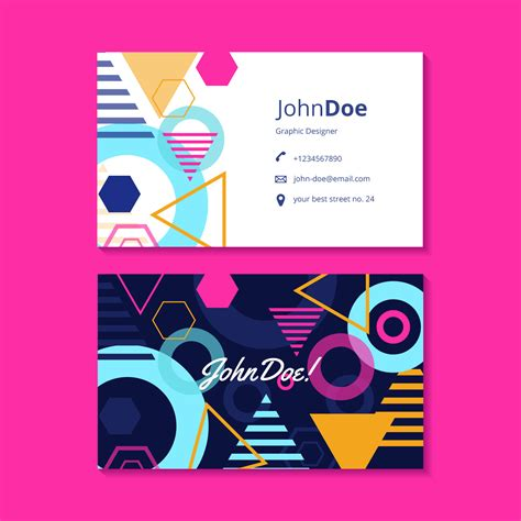 graphic business card templates graphic design business card template free