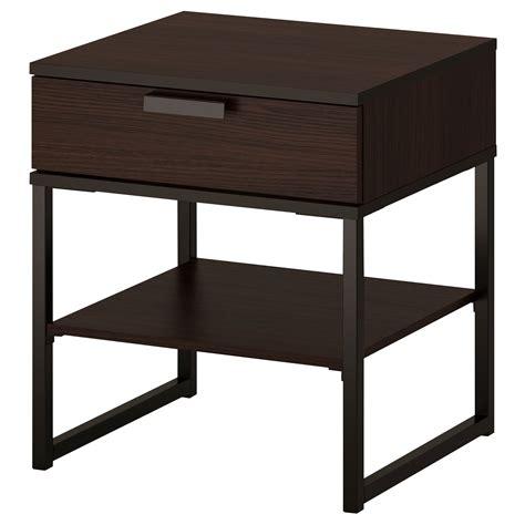 bedroom table trysil bed frame dark brown leirsund standard double ikea