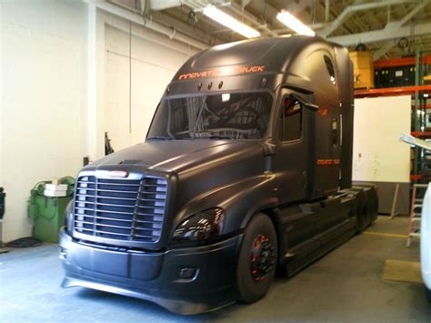 matte black freightliner pacific truck colors