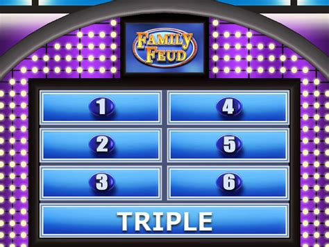 Family Feud Customizable Template family feud template ppt 28 images make your own