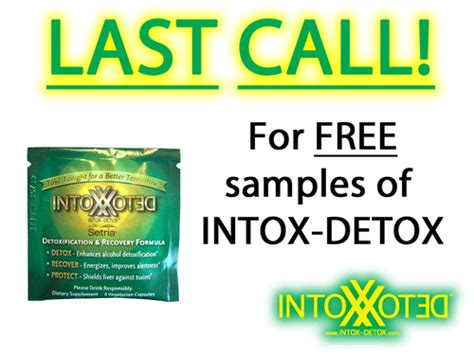 Intox Detox by The Intox Detox Free Sle Program Is Ending Forever