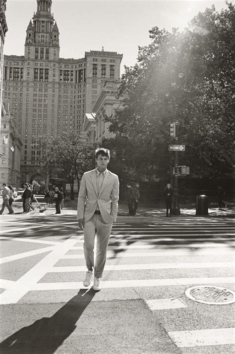 club monaco goes minimal for spring summer 2015 caign miles garber goes on a new york stroll for club monaco