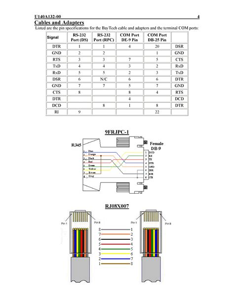 wiring diagram rj45 to db9 wiring diagram schemes