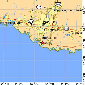 hidalgo texas map hidalgo texas tx population data races housing economy