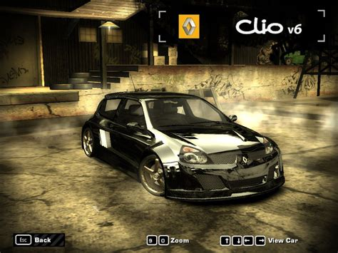 renault clio v6 nfs carbon renault clio v6 by coolio need for speed most wanted