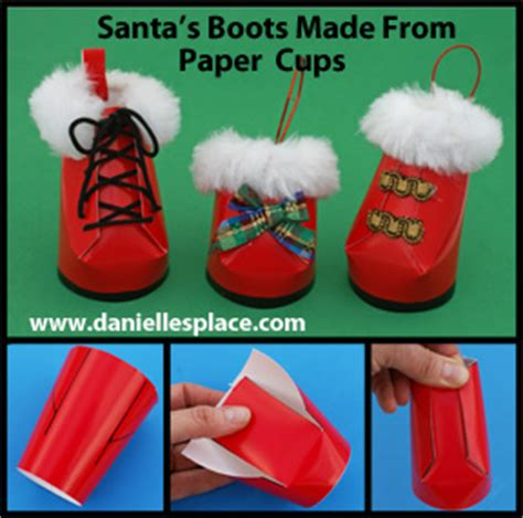 santa made from styrofoam cup crafts for
