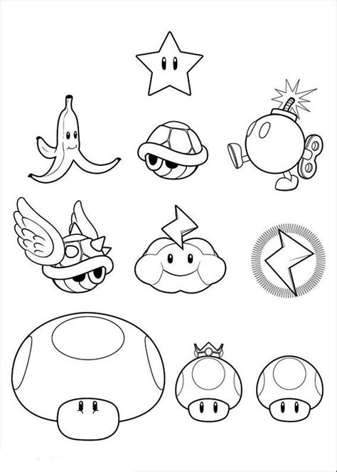 mario coloring mario power ups coloring pages free coloring for 2019