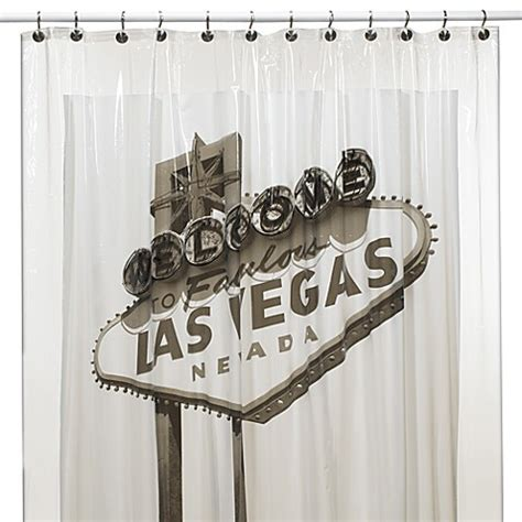 las vegas shower curtain las vegas vinyl shower curtain bed bath beyond