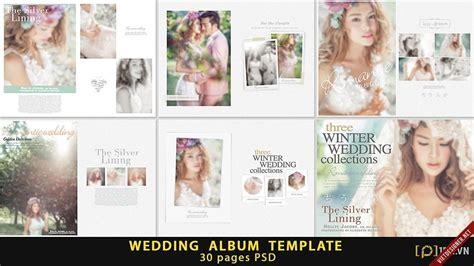 template photoshop kolase psd thiết kế album cưới tuyệt đẹp dạng photobook