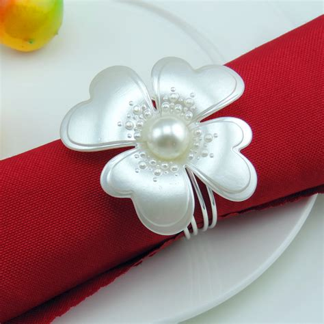 get cheap flower napkin rings aliexpress