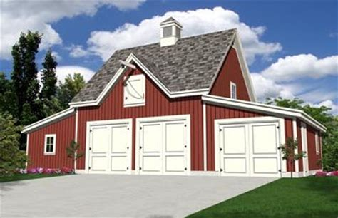 Car Barn Plans | oak lawn four bay car barn plans expandable