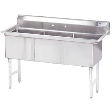 Three Compartment Kitchen Sink Kitchen Sinks Three Compartment Commercial Sinks And Faucets Zesco