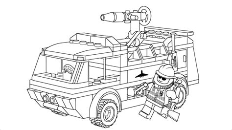lego fire truck coloring page lego coloring pages with characters chima ninjago city