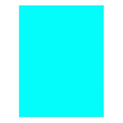 aqua color shirt neon aqua blue bright turquoise color trend blank postcard