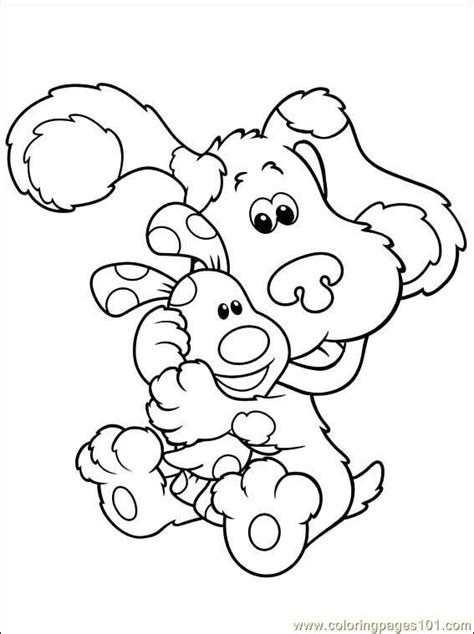 coloring book pages of blue s clues blues clues color pages coloring home