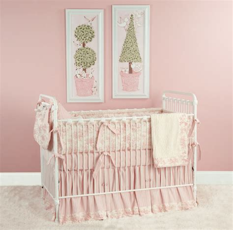 Doodlefish Crib Bedding Doodlefish Toile Crib Bedding Pink Traditional Baby Bedding Atlanta By Doodlefish Inc