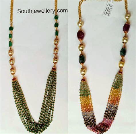 bead necklace designs multistring necklaces jewellery designs