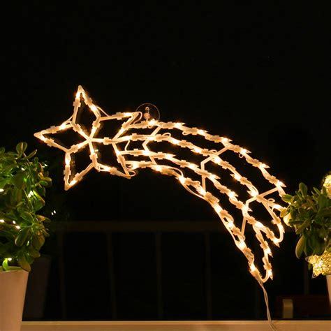 Weihnachtsdeko Fenster Mit Batterie by Sternschnuppe Fenster Silhouette Weihnachten 50cm