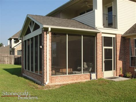 Screen Room Addition Sunroom Additions In Houston Stonecraft Builders