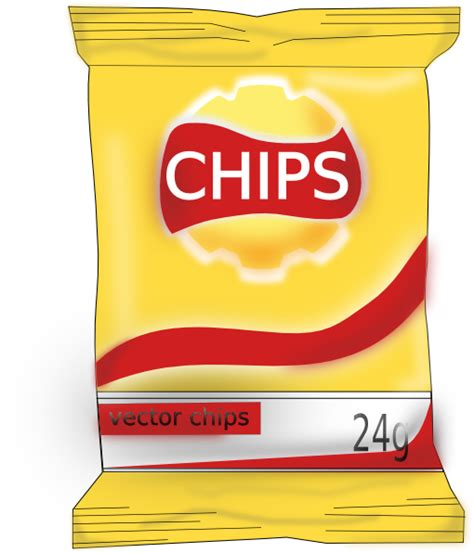 hot chips clipart bag of chips clip art at clker vector clip art