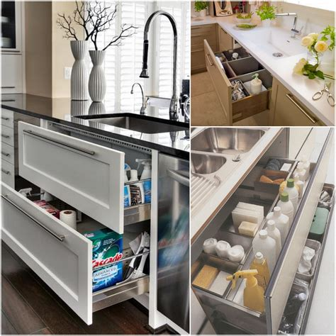 Kitchen Drawers Design Sophisticated Modern Kitchen Furnishing Ideas With Cool Kitchen Cabinets Storage Added Pull Out