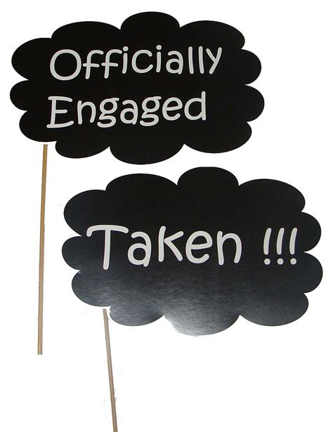 Home Decor Set by Engagement Theme Officially Engaged Photo Prop Untumble Com