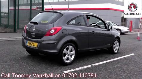 vauxhall grey 2012 vauxhall corsa exclusiv 1 2l technical grey vk62llj