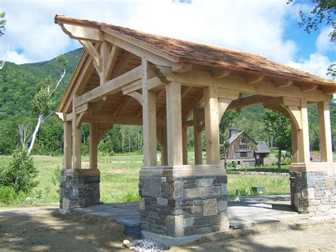 Gambrel Barn House Plans Gazebo Green Mountain Timber Frames Middletown Springs