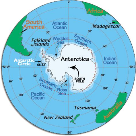 antarctica map with country names and capitals routine measurements south pole antarctic circle