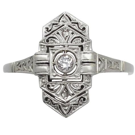 deco ring styles 0 12ct and 14k white gold ring deco style