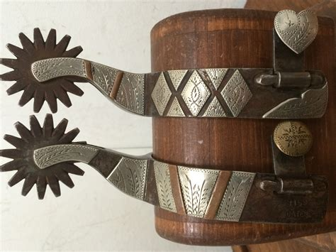 Handmade Spurs For Sale - jerry cates dbl mounted spurs 3458
