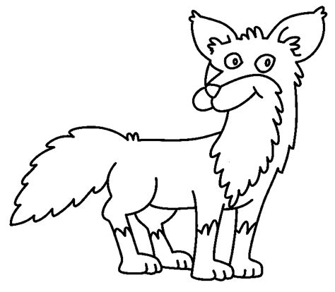 red fox coloring 5 free coloring page site cliparts co