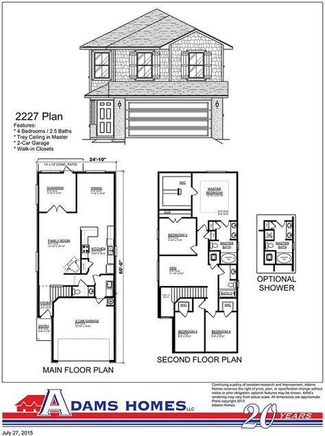 adams homes floor plans clayton cove adams homes