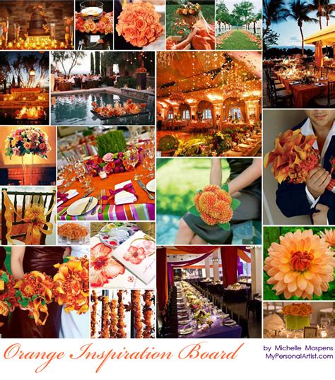 orange color theme fall sedona wedding blog