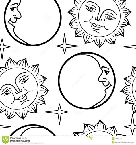 half sun coloring page half moon tattoo coloring pages