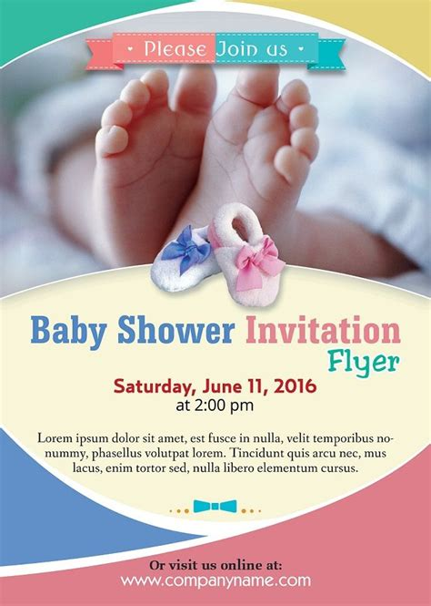 baby shower flyer template 11 best zuk 252 nftige projekte images on club
