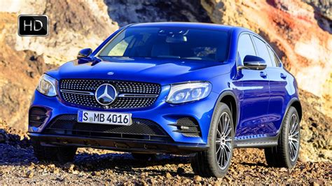 mercedes benz glc coupe suv brilliant blue exterior