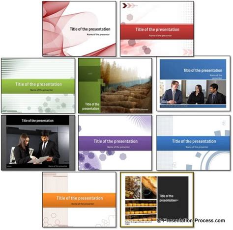 set powerpoint template free 10 free colorful powerpoint title sets
