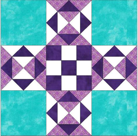 10 Inch Quilt Blocks Free by Santa Fe 10 Inch Paper Foundation Quilting Block Pattern