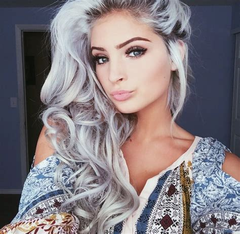 grey hair on pinterest silver hair gray hair colors and pinterest nandeezy h a i r pinterest silver