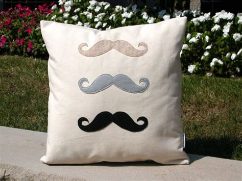 Handmade Pillows - mustache s handmade pillow bambina