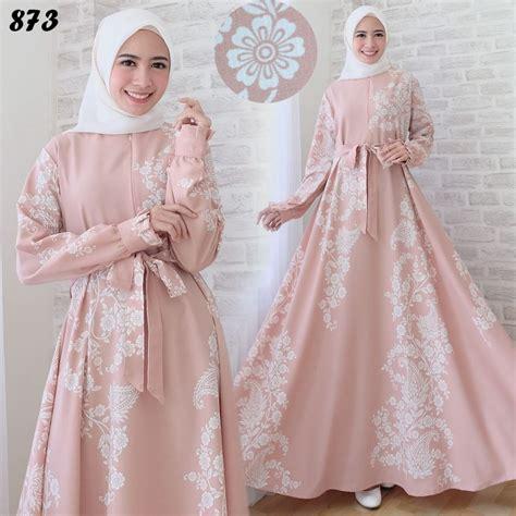 Gamis Maxi A Line gamis maxi motif cantik c873 baju muslim remaja modern