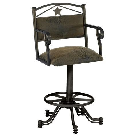 Bar Stool With Arms And Back Furniture Black Metal Bar Stool With Back And Arms Also Four Legs Plus Footrest
