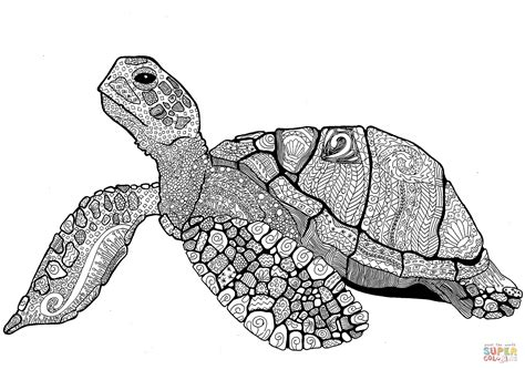 free turtle coloring pages zentangle turtle coloring page free printable coloring pages