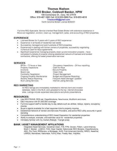 property preservation resume sle great job resumes