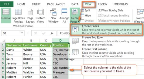 excel page layout locked how to freeze panes in excel lock rows and columns