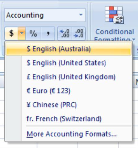 number format excel 2007 number formatting in excel 2007 office 2007 2010