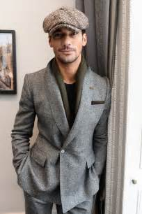 Vanity Case Vintage David Gandy Makes A Case For The Herringbone Tweed Cap