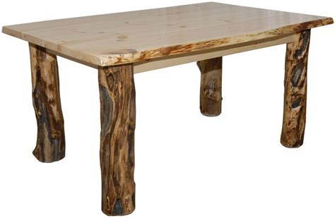 rustic aspen log kitchen table ebay