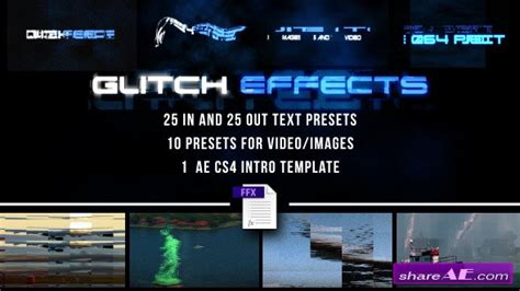 Glitch Presets For Text And Video After Effects Presets Videohive 187 Free After Effects Free After Effects Template Glitch Intro